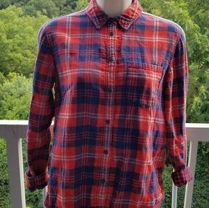 Madewell Plaid Flannel Buttondown XS